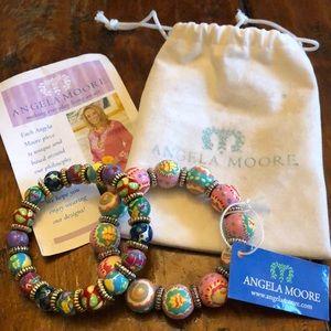 Angela Moore Bracelets - set of 2